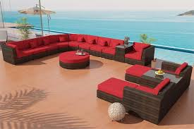 Round Patio Furniture by Madison Outdoor Wicker Patio Furniture Round Sectional Sofa La Jolla
