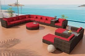madison outdoor wicker patio furniture round sectional sofa la jolla