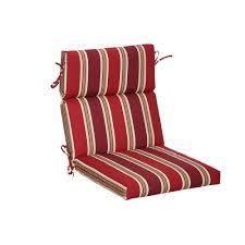 Dining Chair Cushions Hton Bay Chili Stripe Outdoor Dining Chair Cushion Tg12216b 9d4