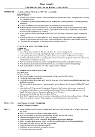 sle of resume planning analytics manager resume sles velvet