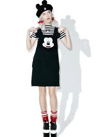 lazy oaf x disney mickey mouse pinafore dress dolls kill