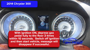 chrysler 300 oil light keeps coming on 2014 chrysler 300 oil light reset service light reset youtube