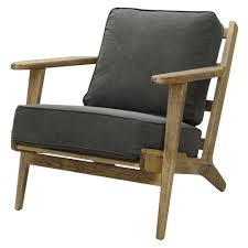 four hands irondale brooks lounge chair in stonewash dark green fh