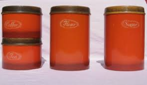 Italian Kitchen Canisters by 28 Orange Kitchen Canisters Retro Italian Kitchen Canisters
