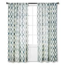Threshold Blackout Curtains by Threshold Semi Sheer Wavy Lines Curtain Panel Blues