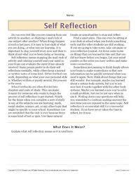 sixth grade reading comprehension worksheet self reflection