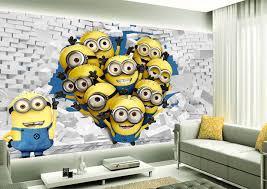 tapisserie chambre d enfant tapisserie 3d papier peint chambre d enfant les minions idées