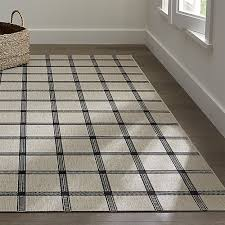 Large Indoor Outdoor Rugs Koen Grid Indoor Outdoor 6 X9 Rug Crate And Barrel For The