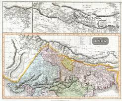 map of nepal and india file 1814 thomson map of northern india and nepal geographicus