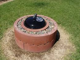 Fire Pit Ring With Grill by 50 Fire Pit Using Concrete Tree Rings Smokey Joe Tree Rings