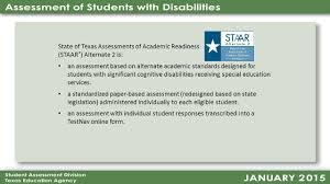 state of texas assessments of academic readiness ppt download