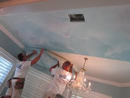 paint a ceiling mural without breaking your neck