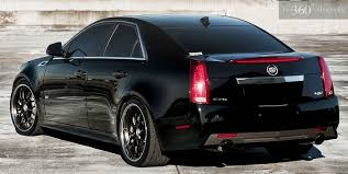 custom black light sts cadillac cts v tricked out custom 360 forged wheels black rear jpg
