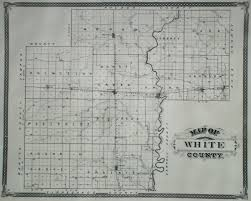 Indiana Illinois Map by White County Indiana Historical Society