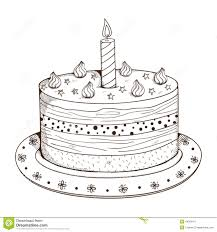 holiday cake with candle stock vector image 44362417