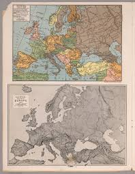 Map Of Europe In 1914 by Europe 1914 1935 U0026 Relief Map Of Europe David Rumsey Historical