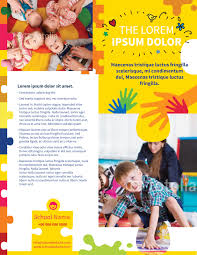 daycare brochure template day care flyer template myindesign