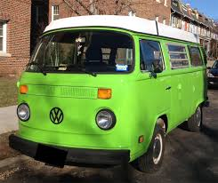 green volkswagen van sweet rides the brookland bridge