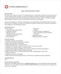 6 real estate agent job descriptions free sample example