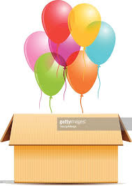 balloons in a box colored balloons in a box vector vector getty images