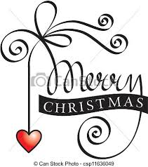 eps vector of hand lettering merry christmas vector color