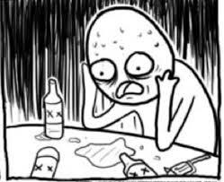 Depressed Guy Meme - overconfident alcoholic know your meme