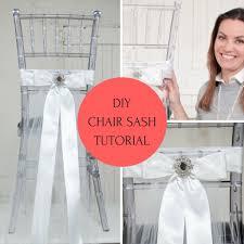 Diy Chair Sashes Diy Elegant Chair Sash