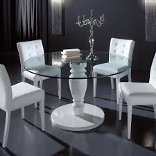 designer round glass dining table u2014 rs floral design selecting