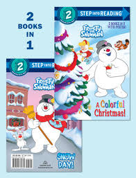 step reading colorful christmas snow frosty