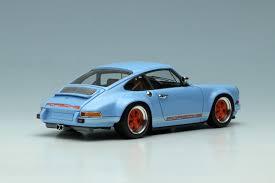 1990 porsche 911 blue gulf blue porsche singer 911 by make up co ltd 1 43 scale