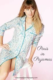 in pajamas