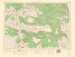 Topographical Map Of Oregon by Old Topographical Map Canyon City Oregon 1966