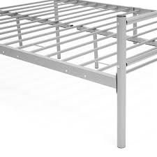 full size metal bed frame platform silver u2013 best choice products