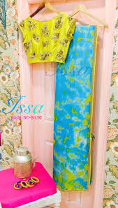 sc130 our fav combination yellow and turquoise blue in a saree