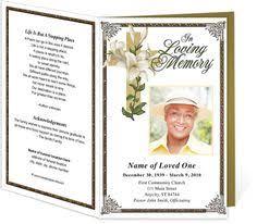 this is a simple but elegant religious memorial service program