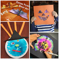 Crafts For Kids For Halloween - fall halloween coffee filter crafts for kids crafty morning