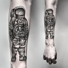 awesome black grey astronaut forearm tattoo tattoos book