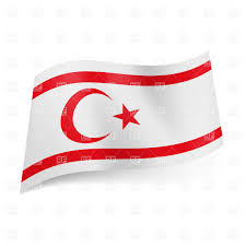 Green Red And White Flag National Flag Of Northern Cyprus Royalty Free Vector Clip Art