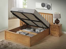 Wood Ottoman Bed Wooden Bed Frames With Storage Frame Decorations