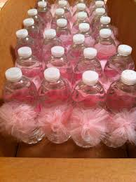 tutu baby shower decorations water bottle pom poms tutu themed ba shower casitadecositas with