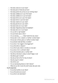100 questions speaking worksheet free esl printable worksheets