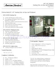 American Standard Walk In Tubs American Standard Tub 3051 110 Sxx User U0027s Manual Download Free