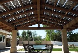 Roof Panels For Patios Solar Panels Do Double Duty As Patio Roof Proud Green Home