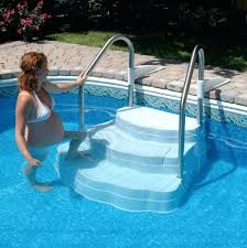 wedding cake pool steps pool steps above ground pool vinyl deck kits pool ladders for