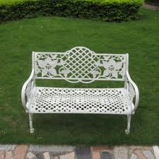White Metal Outdoor Bench Aluminum Garden Bench Wood U2014 Jbeedesigns Outdoor Aluminum Garden