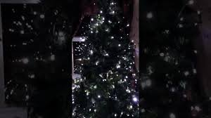 my beautiful christmas tree with led silver lights youtube