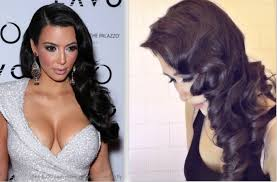 kim kardashian hair tutorial curly vintage hairstyles how to
