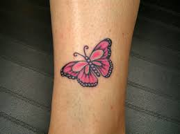 pink ribbon butterfly tattoo small butterfly tattoo picture