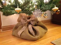 christmas tree burlap sack i think i need to make this instead of