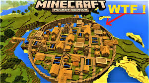 Mpce Maps Mcpe 1 2 Insane Villager City With City Wall 4 Blacksmiths
